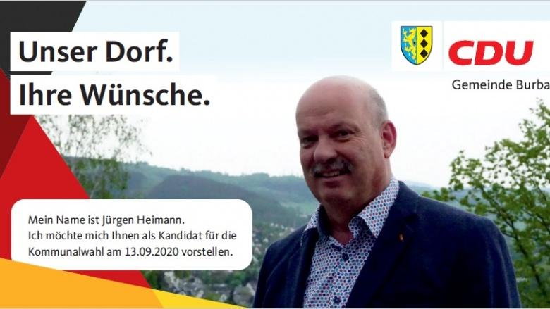 IHR DORF.IHRE WÜNSCHE. Kandidatenvorstellung Burbach – Jürgen Heimann