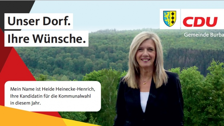 IHR DORF.IHRE WÜNSCHE. Kandidatenvorstellung Burbach – Heide Heinecke-Henrich