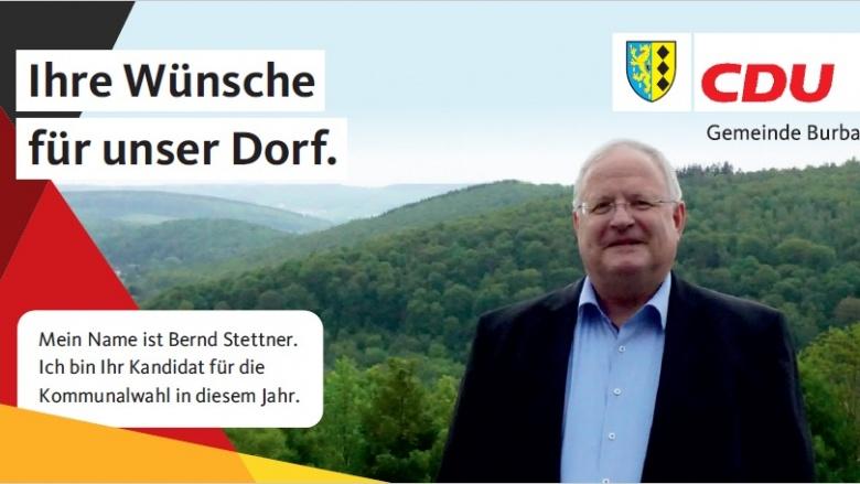 IHR DORF.IHRE WÜNSCHE. Kandidatenvorstellung Burbach – Bernd Stettner