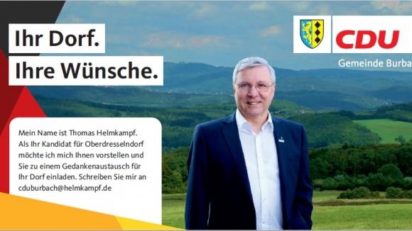 IHR DORF. IHRE WÜNSCHE. Kandidatenbekanntmachung Oberdresselndorf